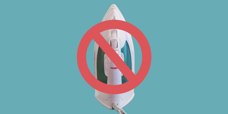 Do not iron!