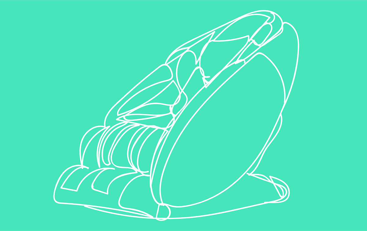 Illustration of a massage chair