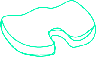 Outline of a coccyx pillow