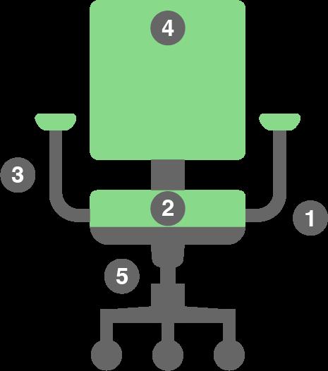 Vector of an office chair