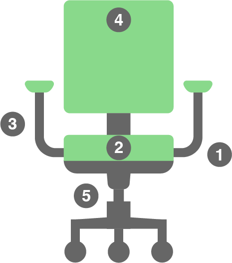 Vector of an office chair