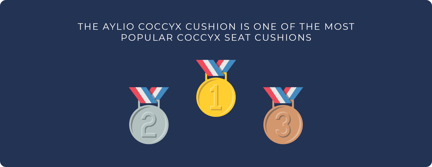 The Aylio coccyx cushion is one of the most popular tailbone pillows
