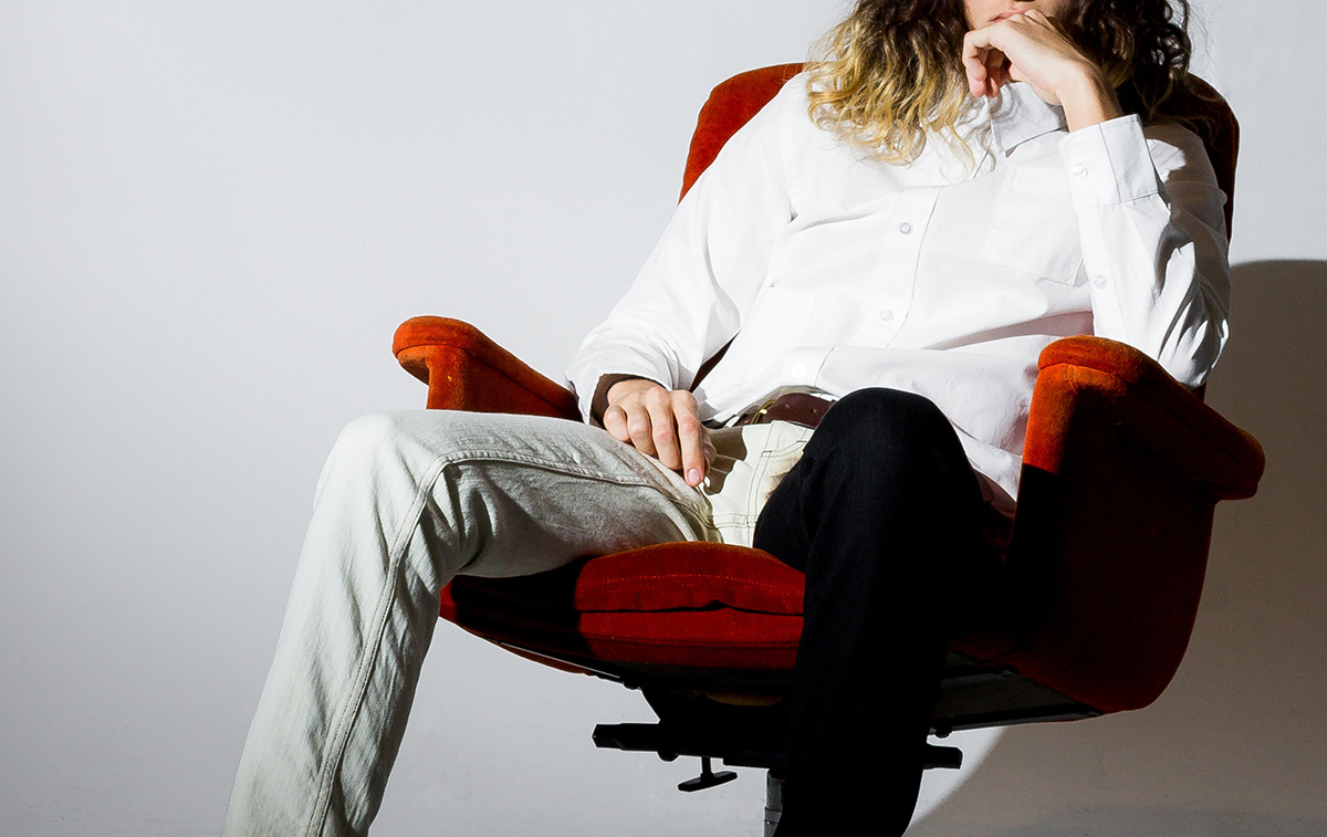 Man sitting on a comfortable chair