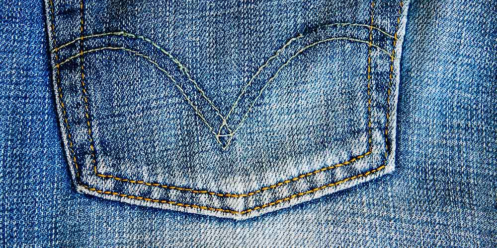 A denim pocket