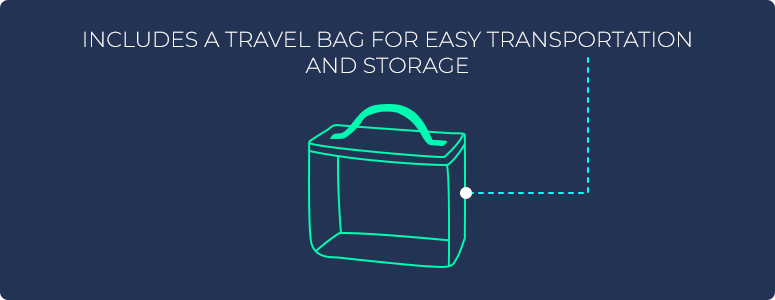 Includes a travel bag for easy transportation and storage