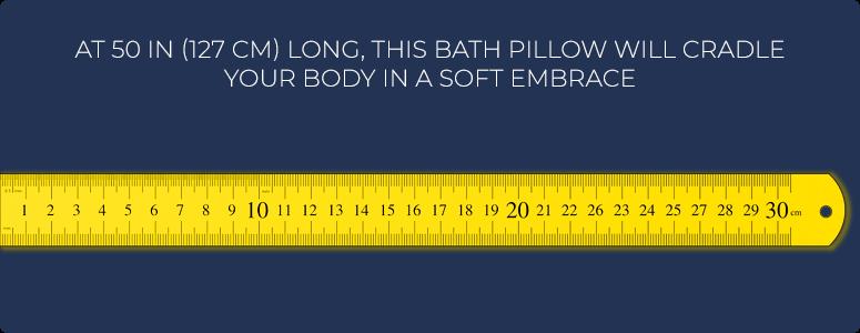 50in (127cm) long bath pillow