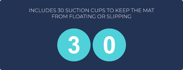 Includes 30 suction cups