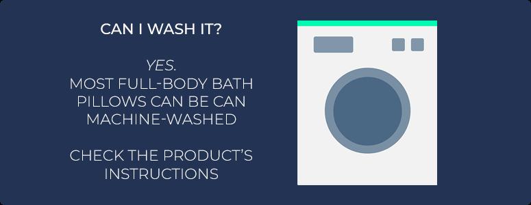 Can I wash a bath pillow?